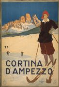 Vintage Cortina D'ampezzo Travel Poster